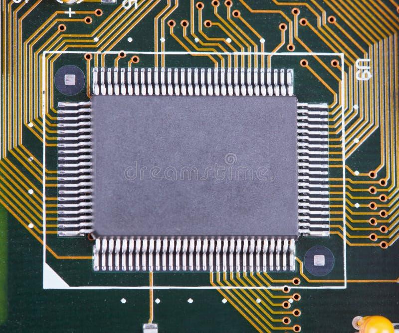 duży zintegrowany microcircuit zdjęcia stock