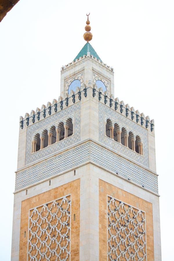 Duży zitouna meczet w Tunisia fotografia royalty free