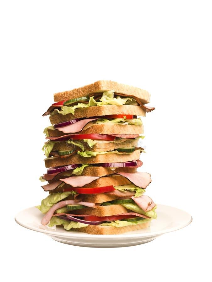 dużych rozmiarów kanapka obraz stock