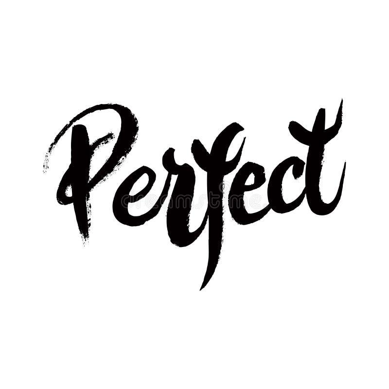 Du är den perfekta calligraphic affischen royaltyfri illustrationer