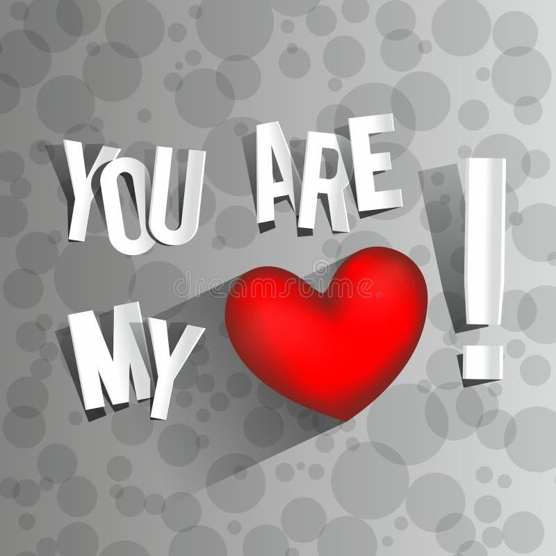 Du är min förälskelse stock illustrationer