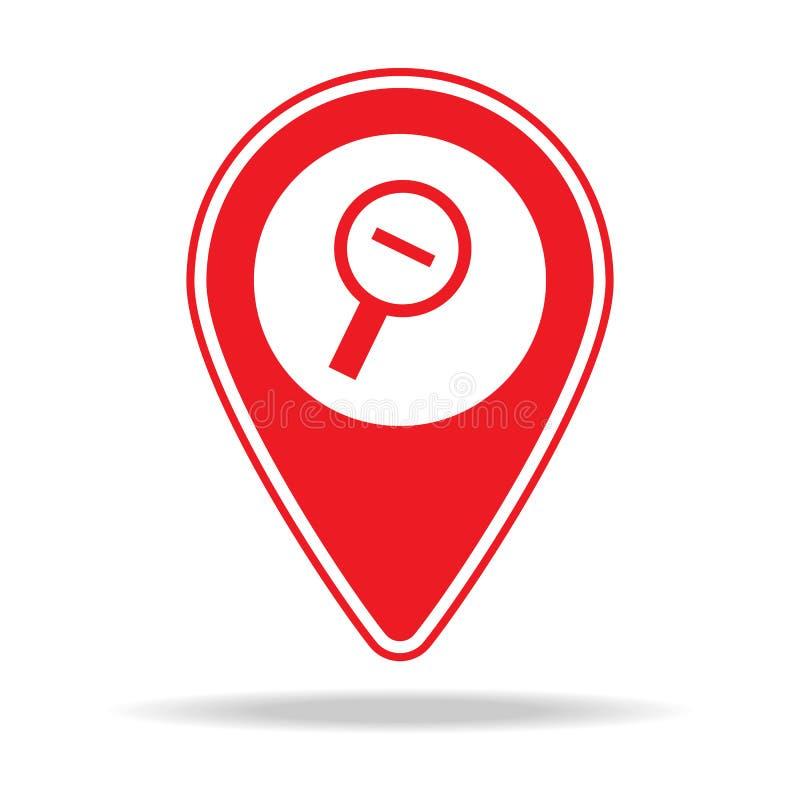 du bourdonnement icône de goupille de carte alt Élément d'icône d'avertissement de goupille de navigation pour les apps mobiles d illustration libre de droits