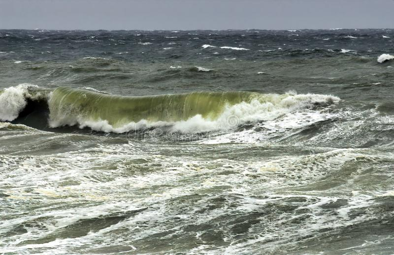 Du?a burza w Portovenere obrazy royalty free