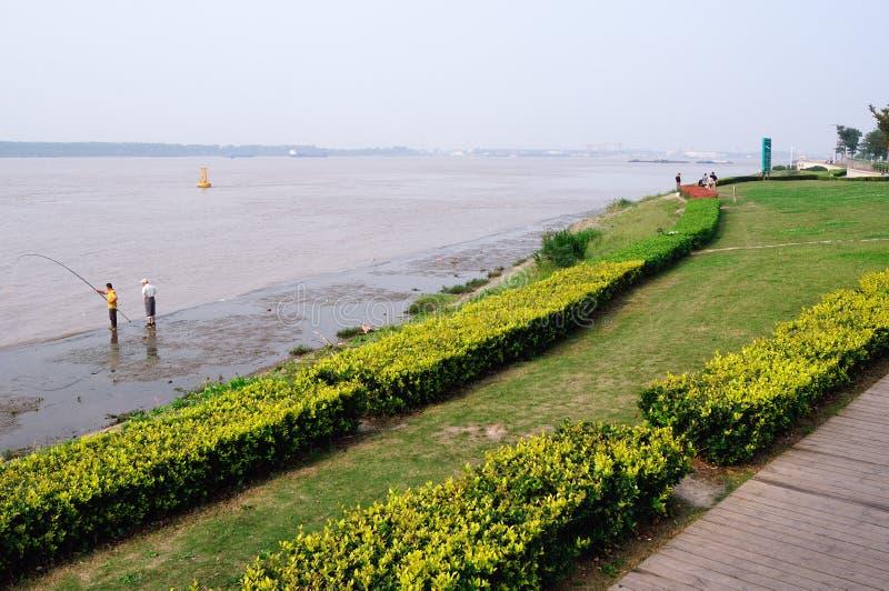 Du côté du fleuve Yangtze images libres de droits