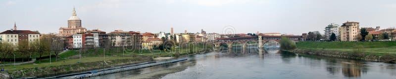 Duże 2 Panorama Pavia Zdjęcia Royalty Free