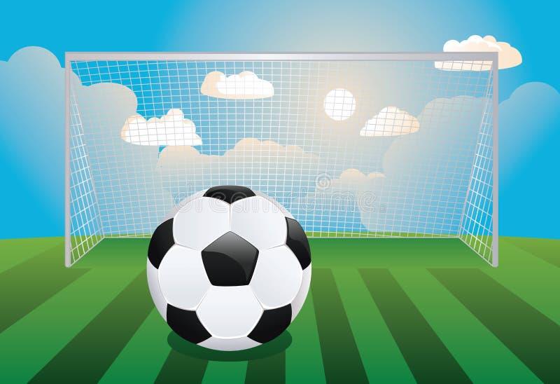 But du football avec la boule illustration stock