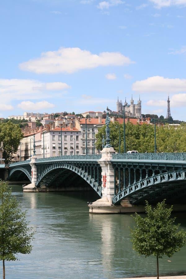 du France l univercite du Rhône de pont de Lyon photographie stock