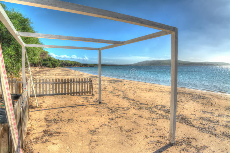 Du front de mer en plage de Mugoni photos libres de droits