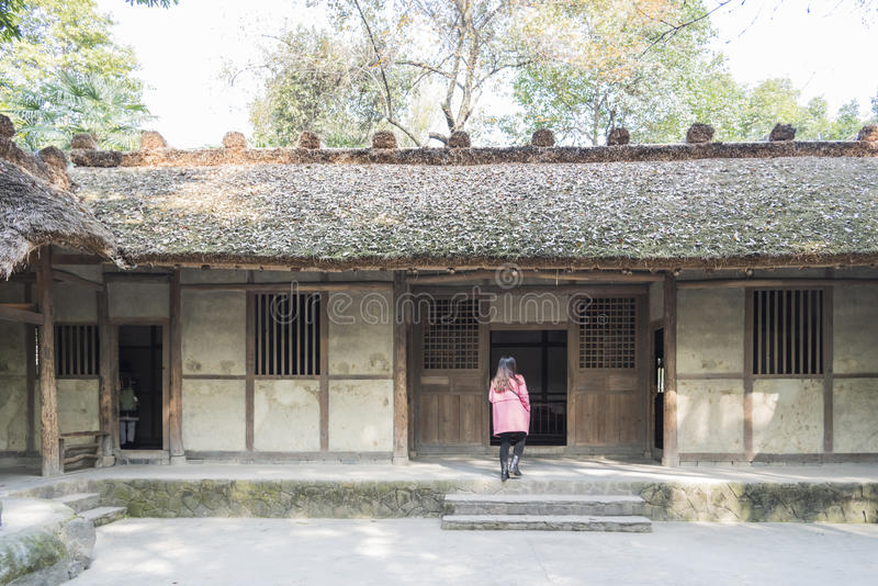 Du Fu Thatched Cottage. Du Fu's Thatched Cottage.This photo was taken in Du Fu Thatched Cottage, Chengdu city,sichuan province,china stock image