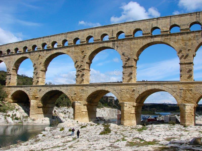 du gard pont普罗旺斯 免版税库存照片