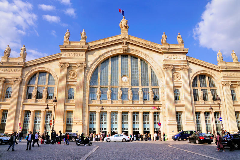 du gare nord巴黎 图库摄影