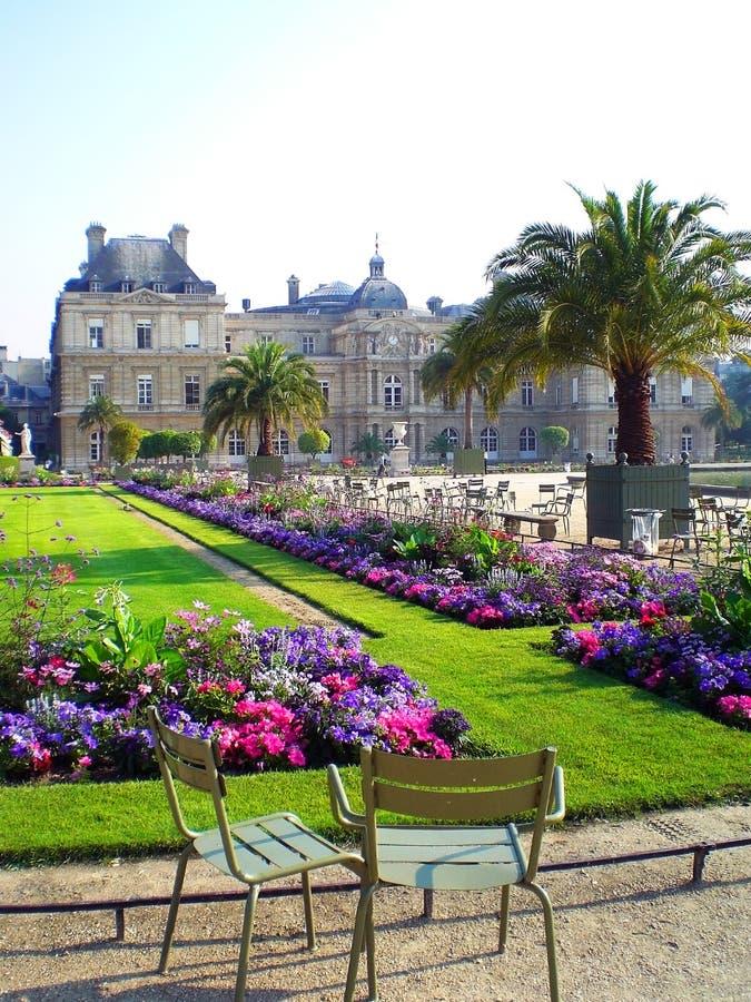du jardin luxembourg paris royaltyfri bild