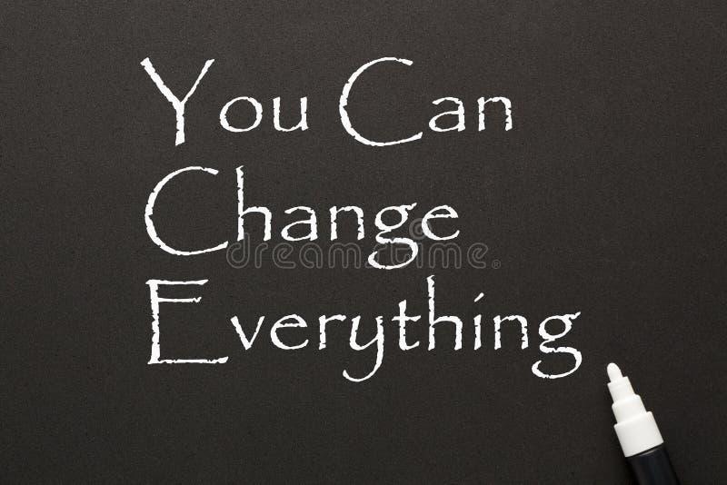 Du kan ändra allt arkivbild