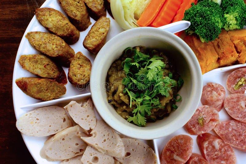 ` Du nord thaïlandais de Nam Prik de ` de nourriture photo stock