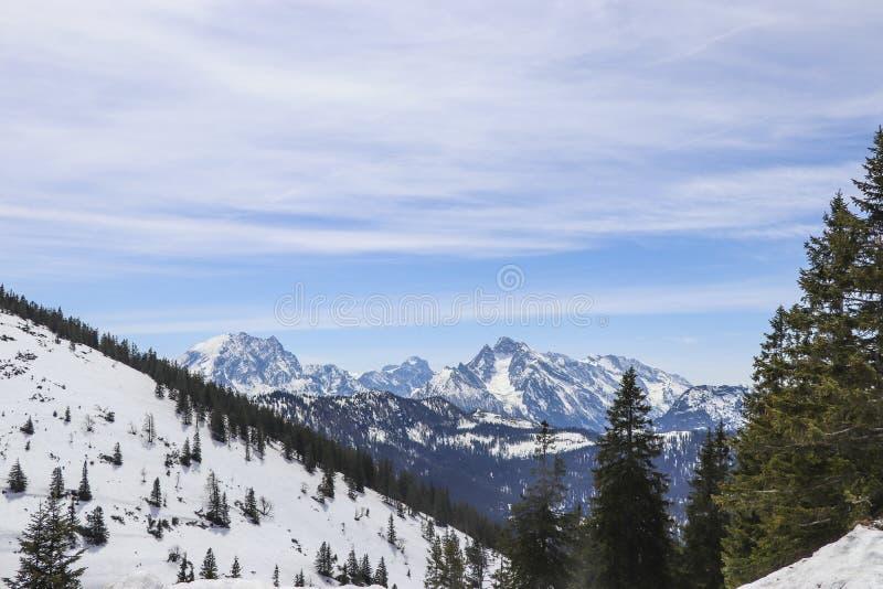 Du?a panoramiczna fotografia Austriaccy alps Salzkammergut region fotografia stock