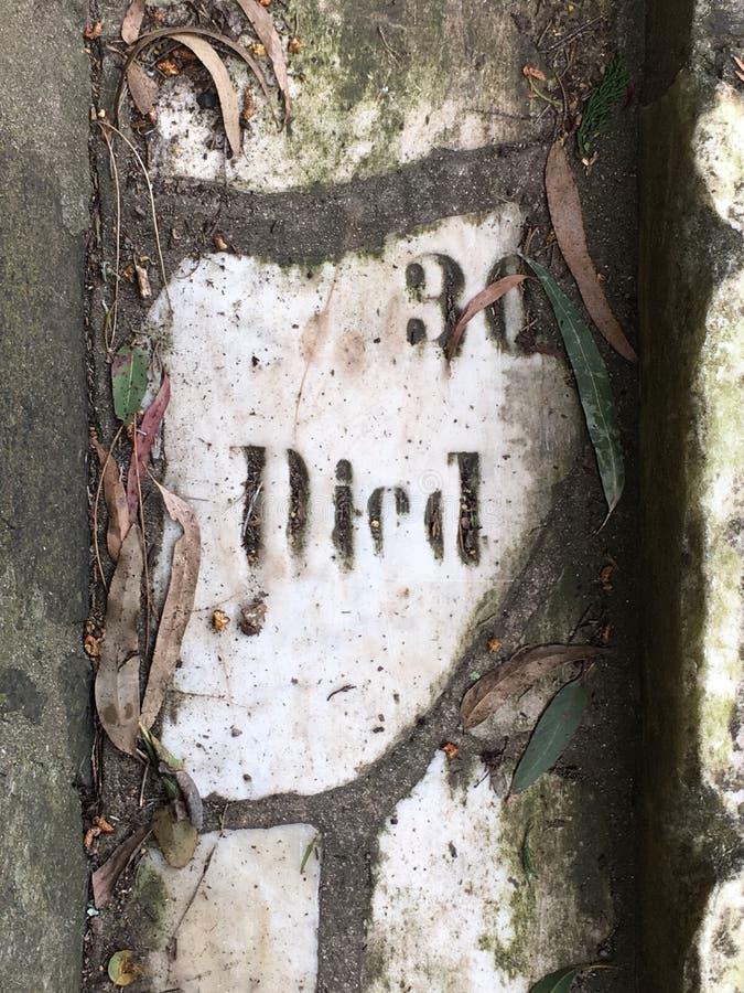 Du pavé topiaire de pierre tombale de cimetière, 29 image libre de droits