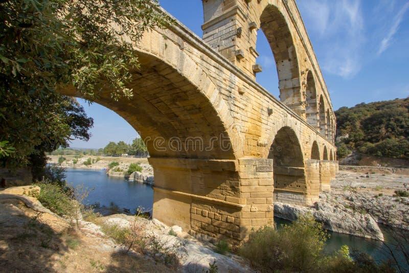 du pont Gard fotografia royalty free