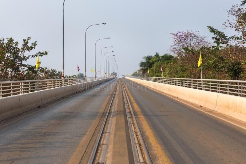 Du premier pont d'amitié de lao thai†«au-dessus du Mekong en Thaïlande photo stock