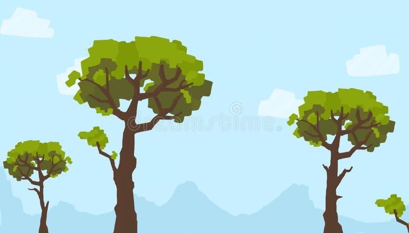 Download Duży lasowy drzewo ilustracji. Ilustracja złożonej z niebo - 57653154