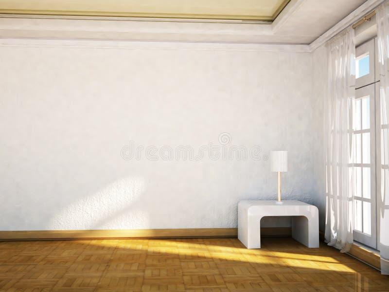 Download Duży okno i lampa na stole ilustracji. Ilustracja złożonej z horyzontalny - 41955131