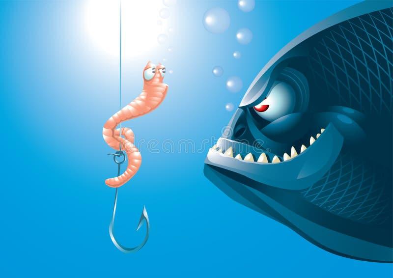 Download Duży ryba ilustracja wektor. Obraz złożonej z humor, niebezpieczeństwo - 17478987