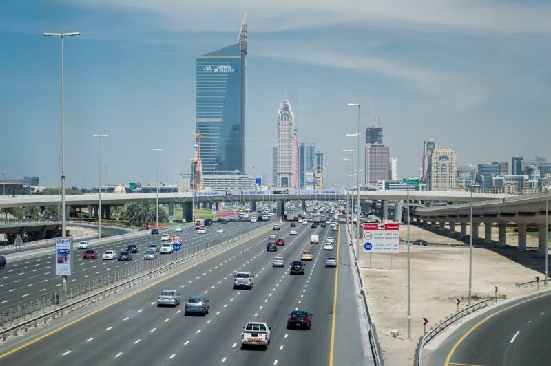 Duabi city highway royalty free stock image