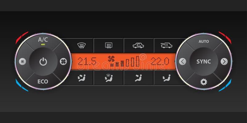 Dual air condition dashboard design vector illustration