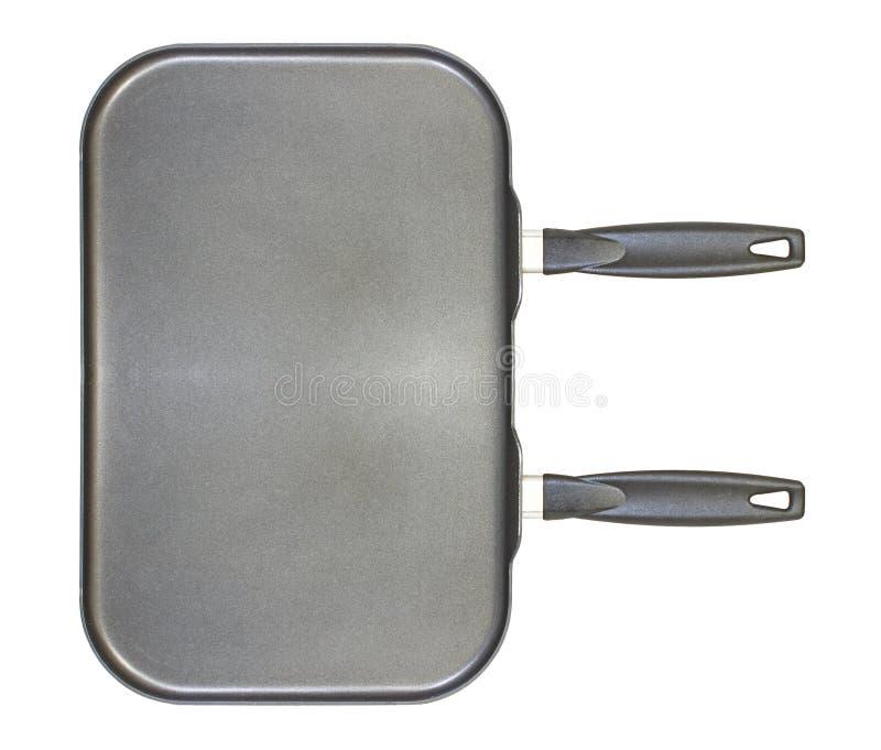 Dual burner frying pan