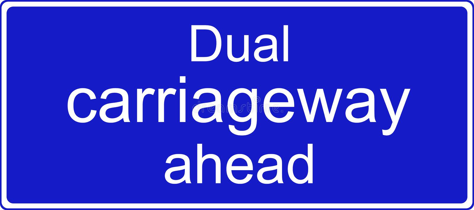 Download Dual Carriageway Ahead Sign Stock Illustration - Illustration: 38358706