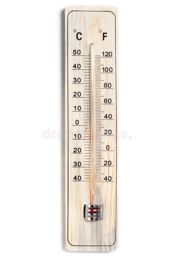 Dual Celsius Fahrenheit Scale Thermometer Stock Image ...
