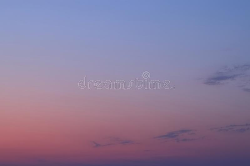 MULTIPLE COLOR OF SKY IN THE EVENING. DUAL COLOR OF SKY IN THE EVENING stock photo