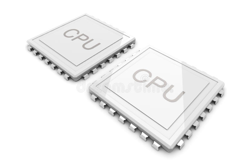 Download Dual Core CPU Stock Photo - Image: 21356320