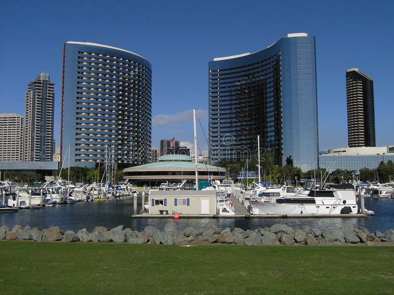Dual Hotels San Diego Stock Images