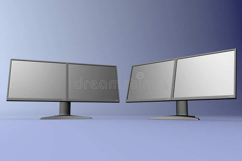 Download Dual LCD displays stock illustration. Image of screen, technology - 632936
