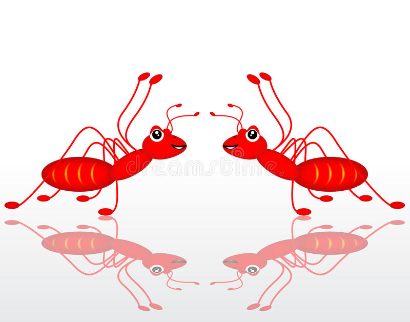 Download Dual red ant stock illustration. Image of shape, space - 26003363