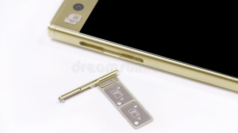 Dual SIM card slot  stock photo  Image of camera, display