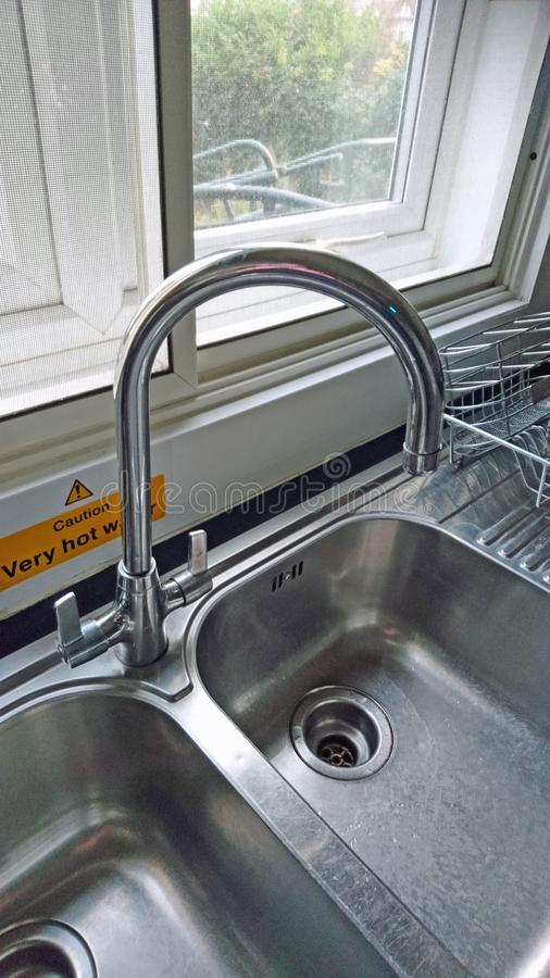 Dual Sink Taps royalty free stock images