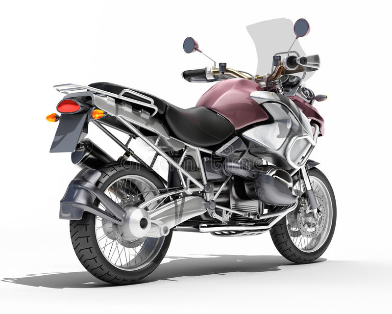 Download Dual-sports Motorcycle Close-up Stock Illustration - Image: 30558252