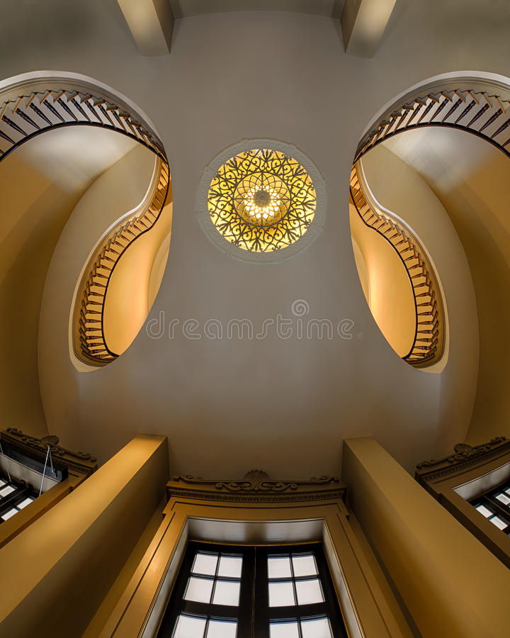 Dual staircases stock image