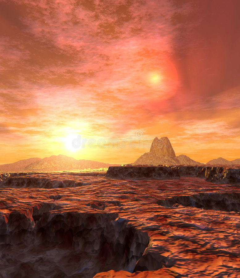 Dual Sun of Kaito 2 royalty free stock images