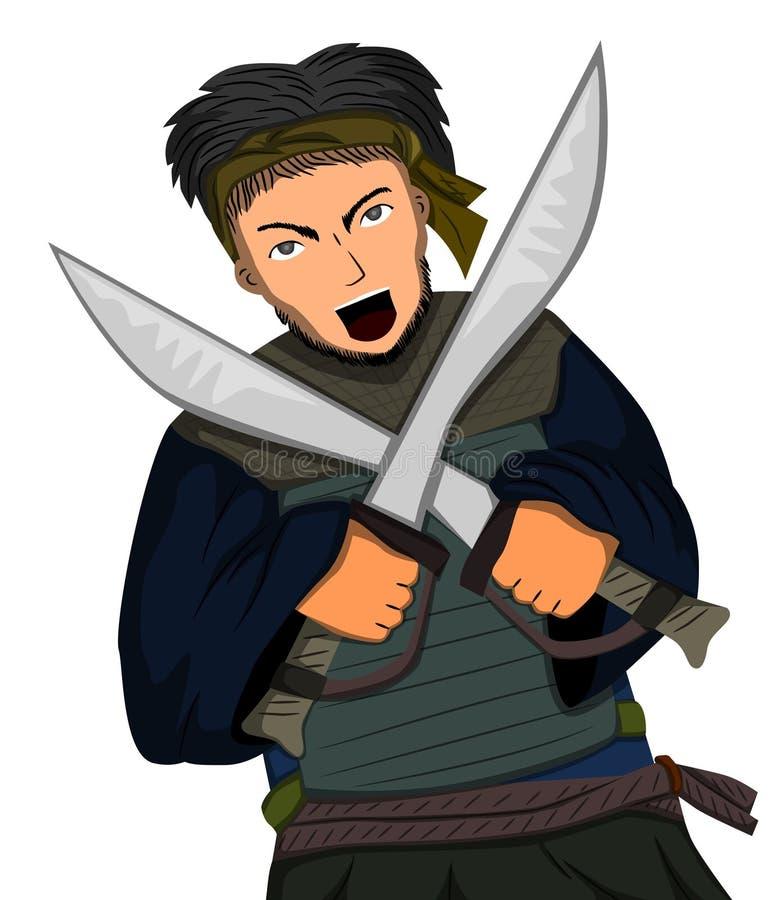 Dual sword royalty free illustration