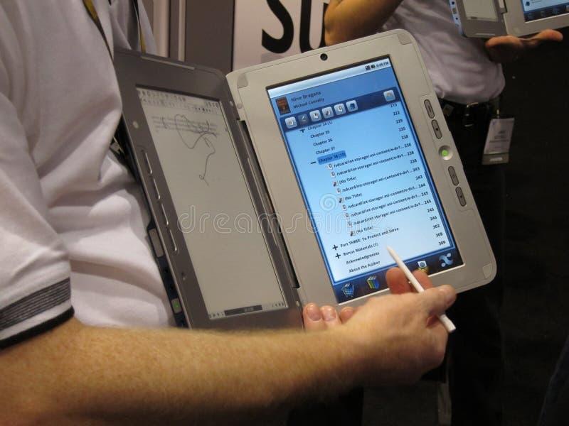 Dualbook ebook reader. World's first dual screen ebook reader at CES 2010 Las Vegas, NV stock photography