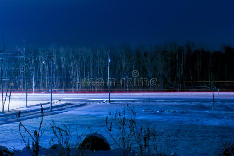 A dualidade de noites do inverno imagens de stock royalty free