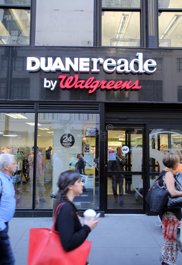 DUANE READE/WALGREENS PHARAMACY lizenzfreies stockfoto
