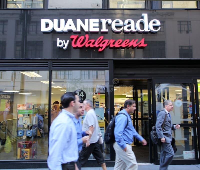 DUANE READE/WALGREENS PHARAMACY lizenzfreie stockbilder