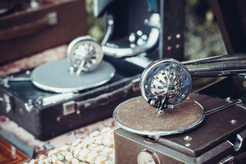 Duas agulhas do gramofone foto de stock