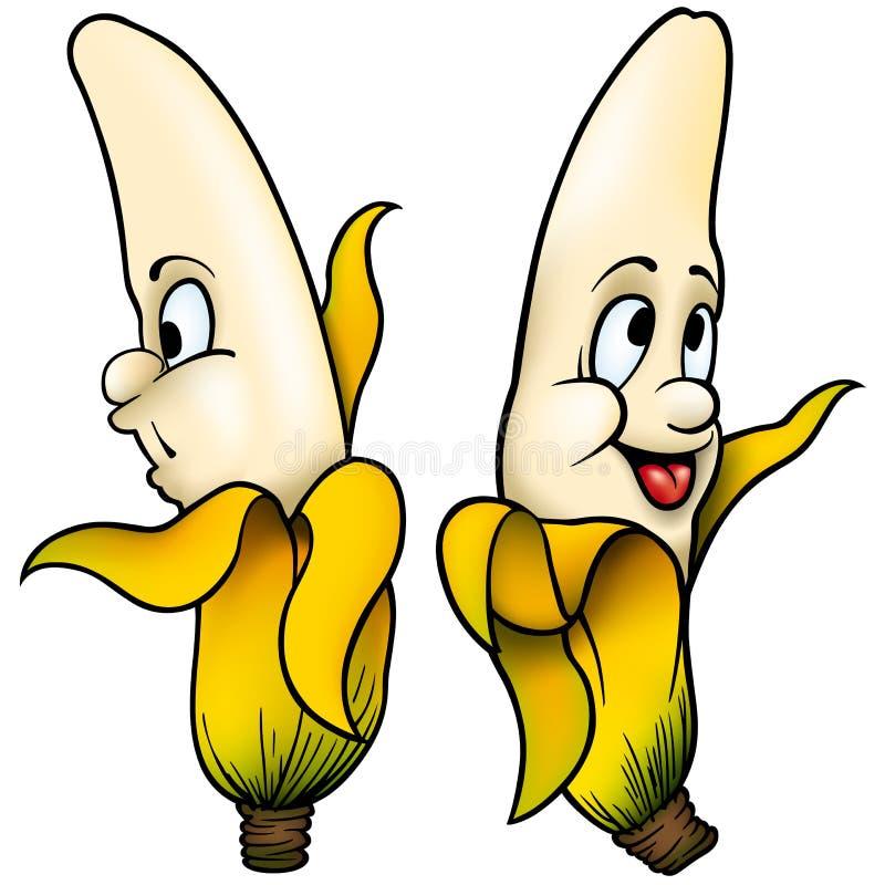 Duas bananas ilustração royalty free