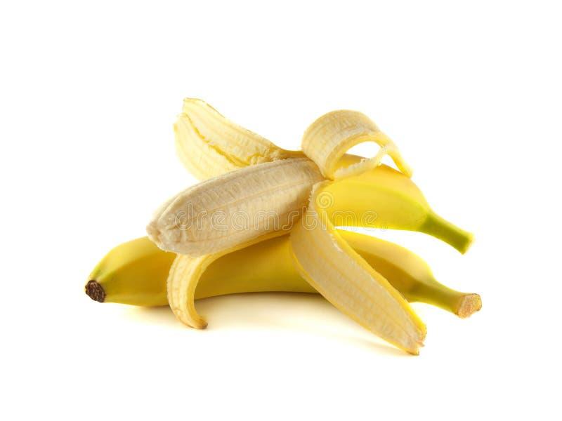Duas bananas no fundo branco foto de stock