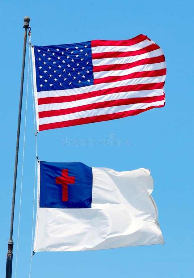 Duas bandeiras fotos de stock