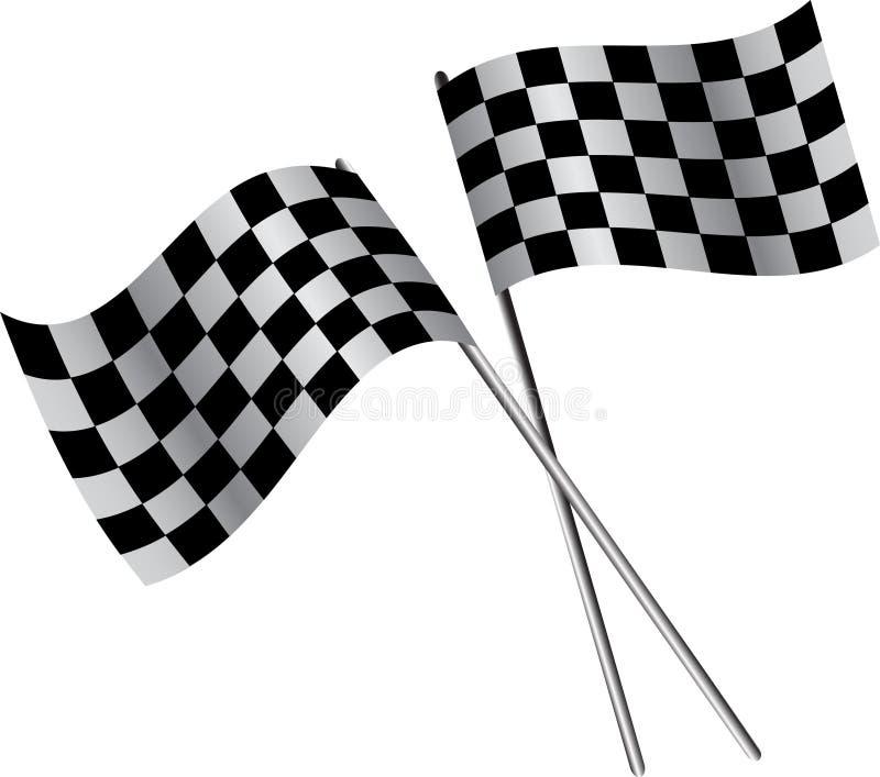 Duas bandeiras ilustração royalty free